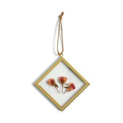 Moldura mini pendurar floral prensado flutuante