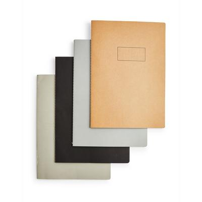 Simple A4 Notebooks 4 Pack