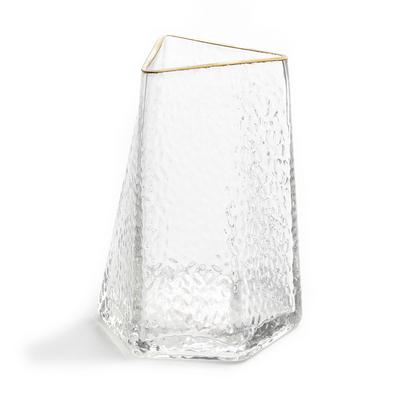 Hex Gold Edge Clear Glass