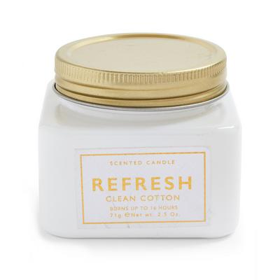 Vela frasco midi algodão limpo refrescante