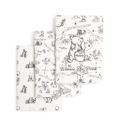White Winnie The Pooh A6 Notebook 3 Pack