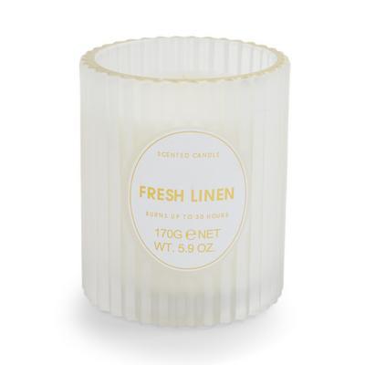 Fresh Linen Fluted Votive Candle