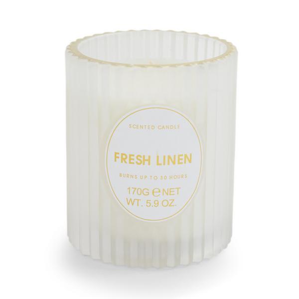 Fresh Linen Scent Fluted Votive Candle