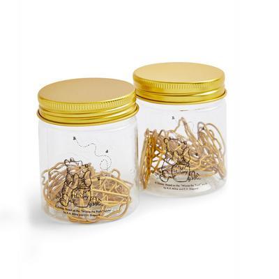 Goldtone Paper Clip Jars
