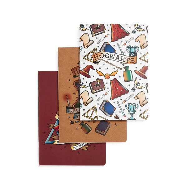 Pack de 3 cuadernos B5 de Harry Potter