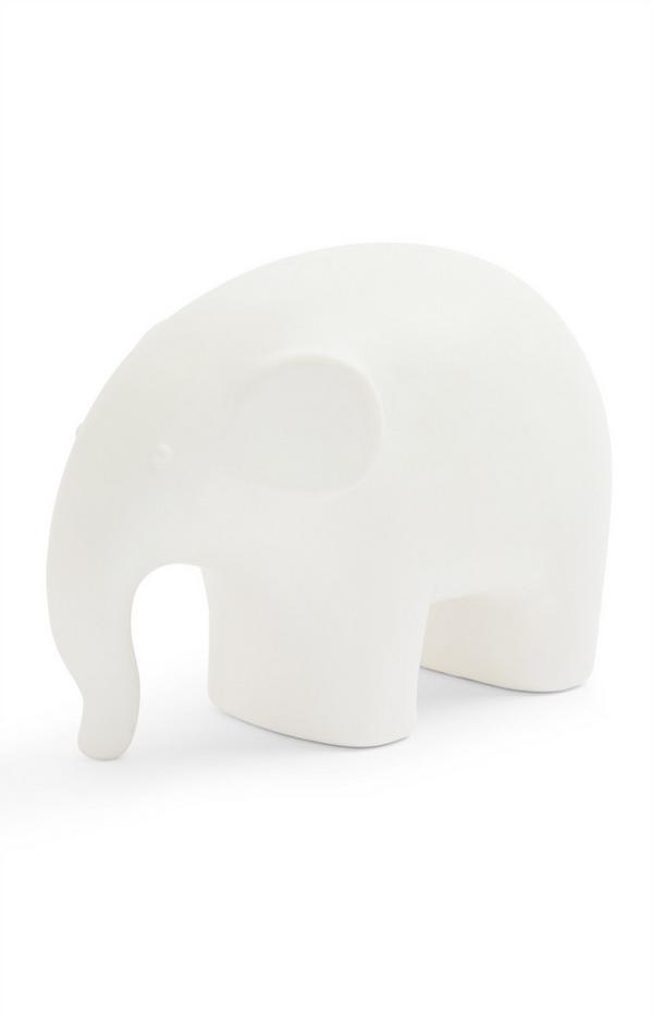 Small White Elephant Statue