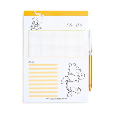 White Winnie The Pooh To Do List Memo Pad