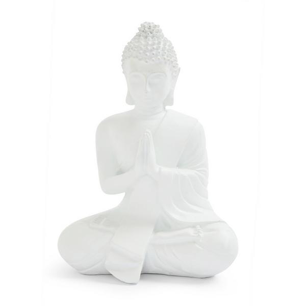 Kleiner, weißer Deko-Budda