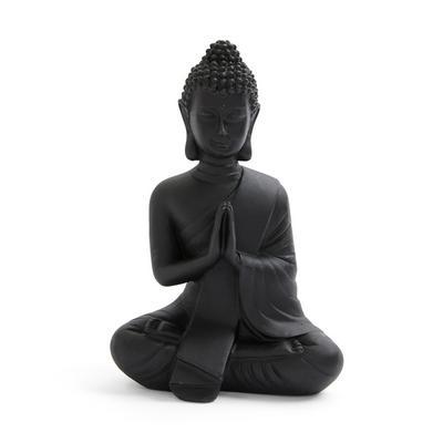 Buda decorativo pequeno preto