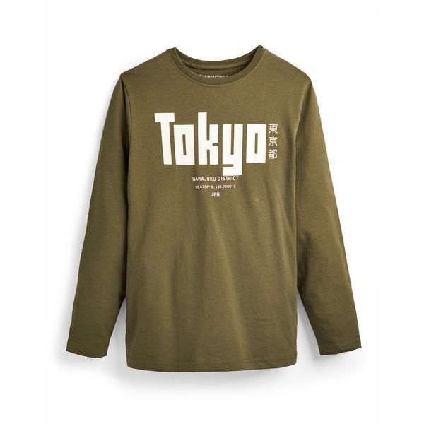 "Khakifarbenes ""Tokyo"" Langarmshirt (Teeny Boys)"