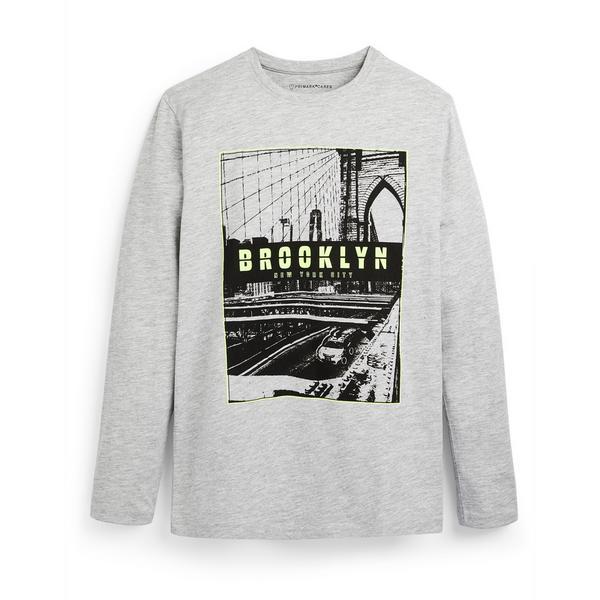 "Graues ""Brooklyn"" Langarmshirt (Teeny Boys)"