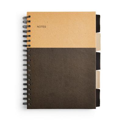 Colour Block B5 Tab Notebook