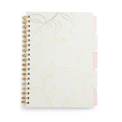 Ivory Foil B5 Tab Notebook