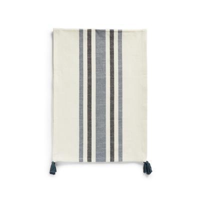 Blue Horizontal Stripe Detail Table Runner