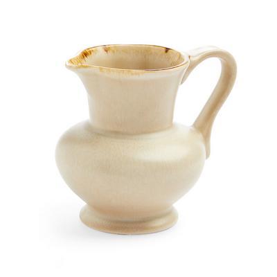 Lattiera in ceramica smaltata beige