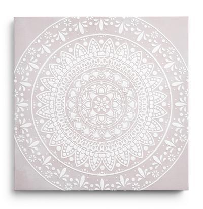 Graues Leinwandbild mit Mandala