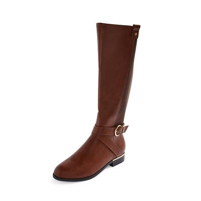 Visoki rjavi jahalni čevlji do kolena