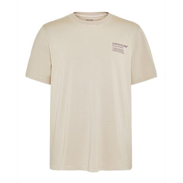 "Beigefarbenes ""Earthcolors By Archroma"" T-Shirt aus Bio-Baumwolle"