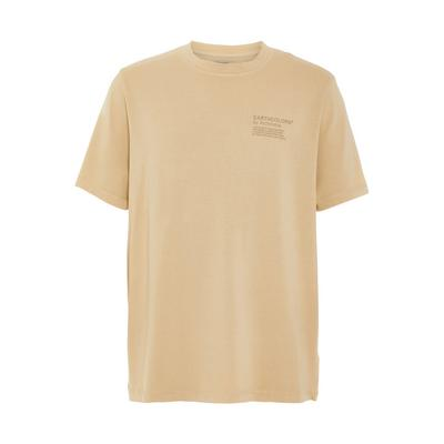 Beige Organic Cotton Earthcolours By Archroma T-Shirt