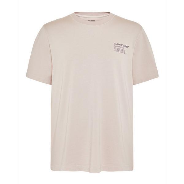 """Primark Cares"" Blassrosa ""Earthcolors By Archroma"" T-Shirt aus Bio-Baumwolle"