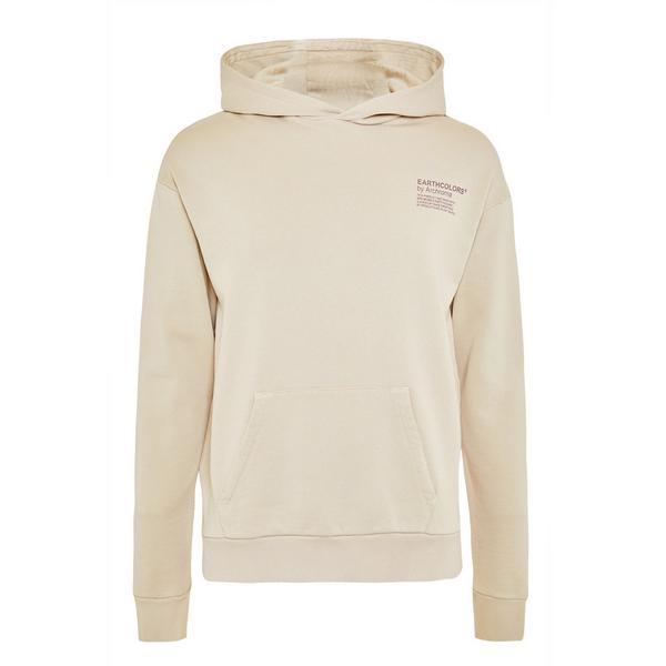 Sweat à capuche beige en coton biologique avec col largeEarthcolors by Archroma, Primark Cares