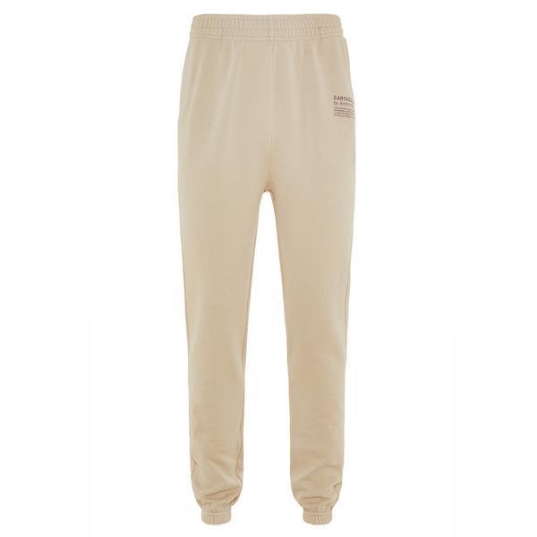 Pantalon de jogging beige en coton biologique Earthcolors by Archroma, Primark Cares