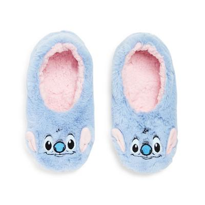 Girl's Blue Lilo And Stitch Slippers