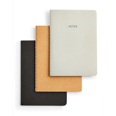 Simple A6 Notebook 3 Pack