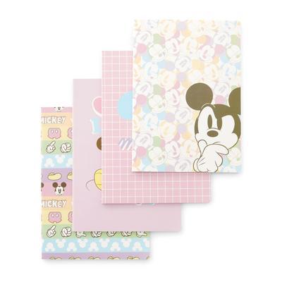 Pack de 4 cuadernos A4 en tonos pastel de Mickey Mouse de Disney