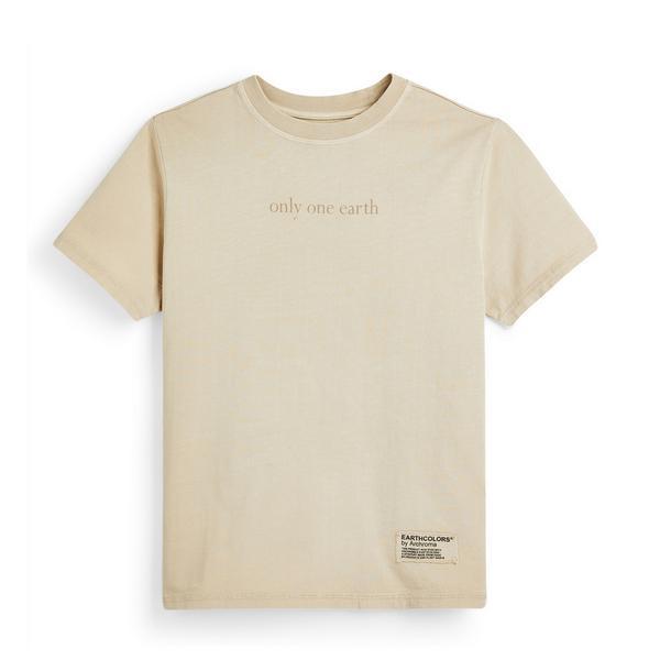 "Beigefarbenes ""Earthcolors By Archroma"" T-Shirt aus Bio-Baumwolle für jüngere Kinder"