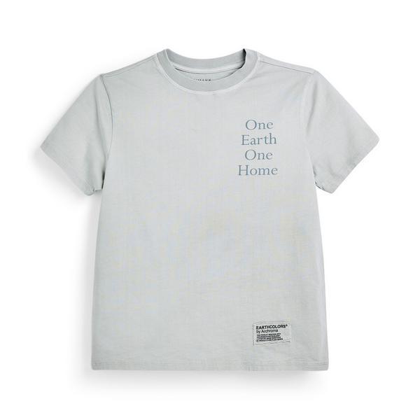 "Mintgrünes ""Earthcolors By Archroma"" T-Shirt aus Bio-Baumwolle"