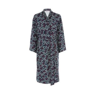 Navy/Carbon Sparkler Print Robe