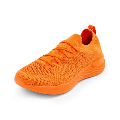 Orange Recycled Knit Trainers