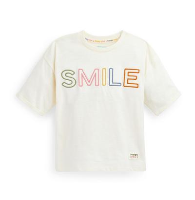 Stacey Solomon Ivory Slogan T-Shirt