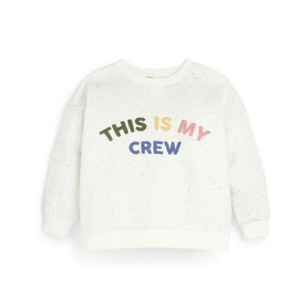 Stacey Solomon Ivory Slogan Sweater