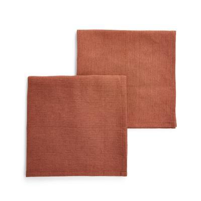 Terracotta Linen Napkins 2 Pack