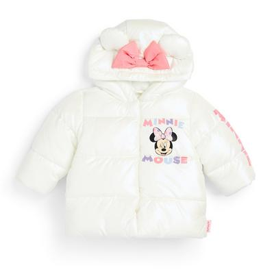Baby Girl White Disney Minnie Mouse Puffer Coat