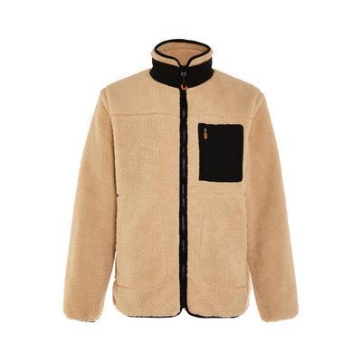 Great Outdoors Camel Teddy Zip Up Fleece Jacket