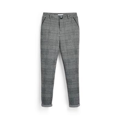Zwart-witte geruite broek voor meisjes