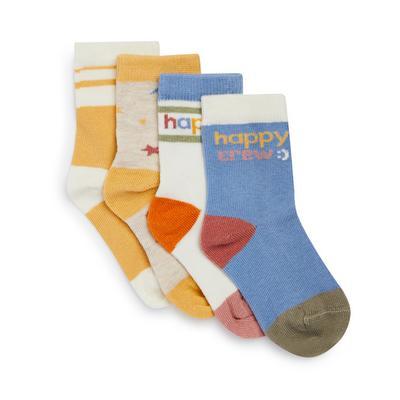 4 Pack Stacey Solomon Unisex Baby Socks