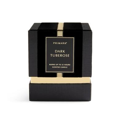Dark Tuberose Square Boxed Candle