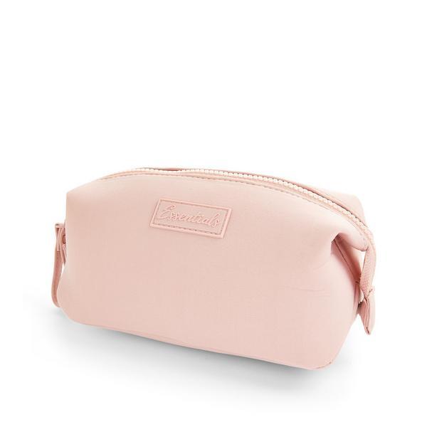Bolsa maquilhagem neoprene rosa-pálido