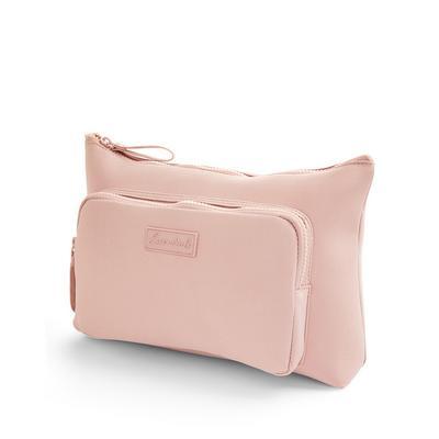 Blush Pink Neoprene 2-In-1 Washbag