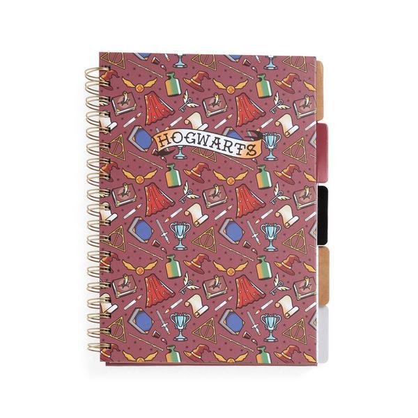 Quaderno B5 con linguette divisorie Harry Potter