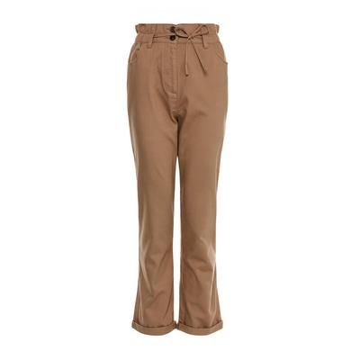 Camel Casual Paperbag Trousers