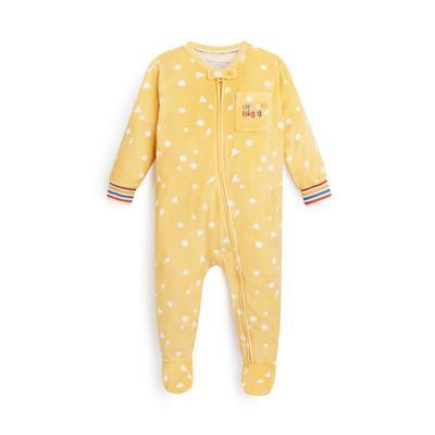 Stacey Solomon Baby Yellow Minky Sleepsuit
