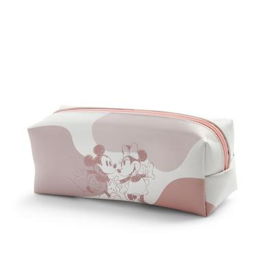 Pink Disney Mickey And Minnie Pencil Case