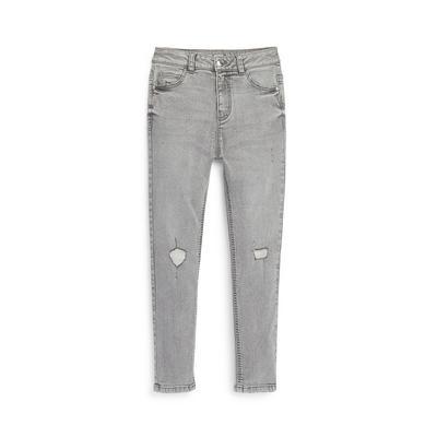 Older Girl Grey Ripped Knee Skinny Jeans