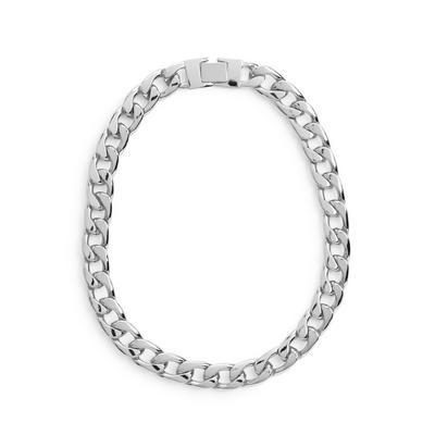 Grobgliedrige silberne Halskette