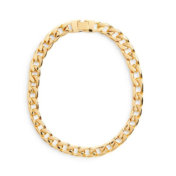 Collana dorata a catena spessa